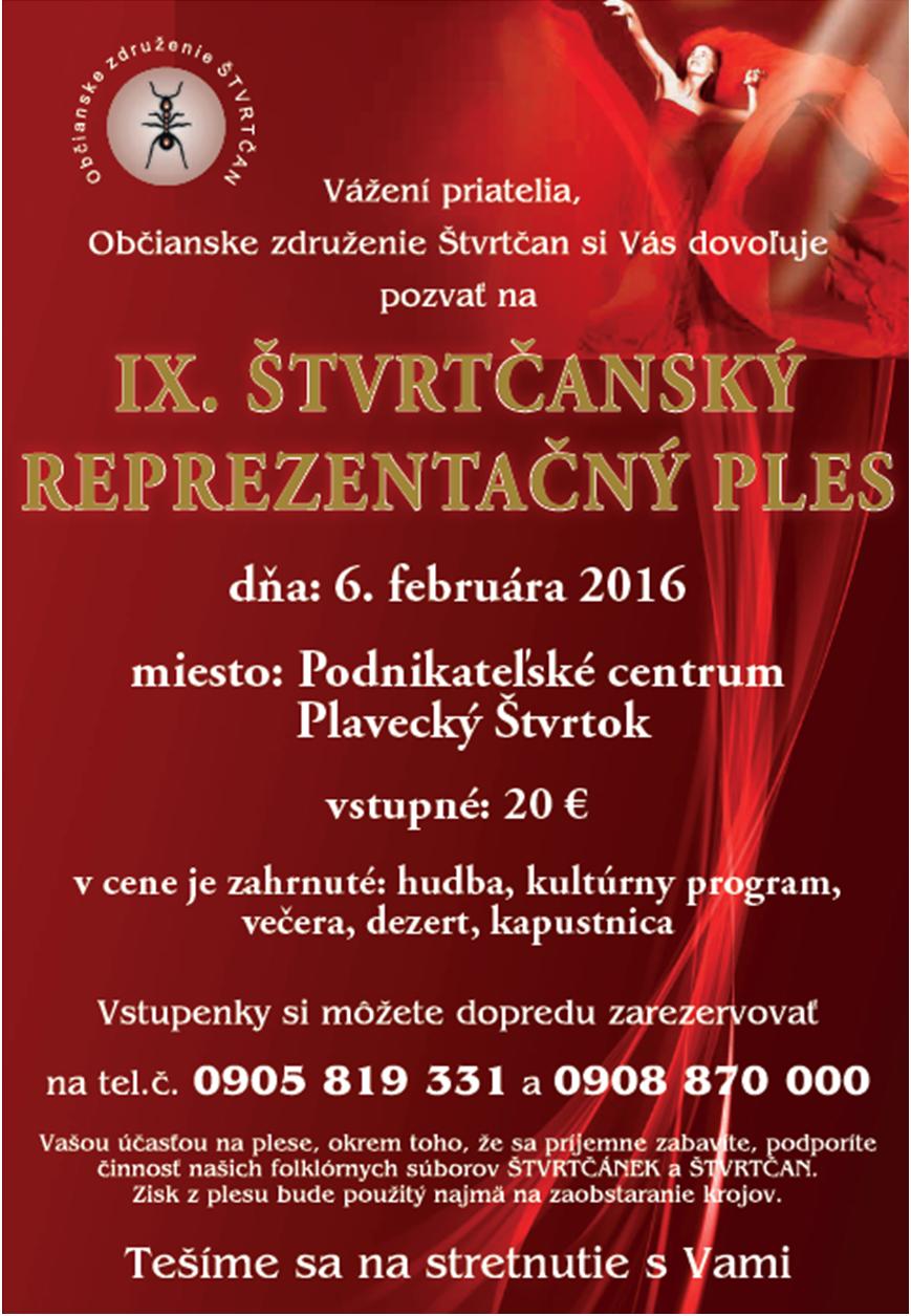 Ples Plavecky Stvrtok 2016
