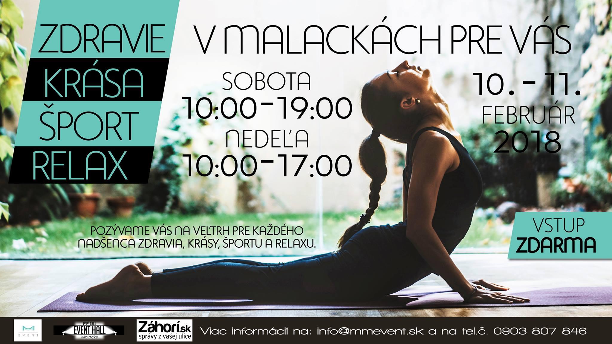 Pozvánka Na Akciu: Zdravie, Krása, šport, Relax V Malackách 10 A 11.2.2018